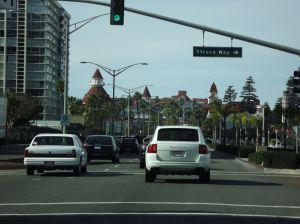 Approaching Hotel del Coronado