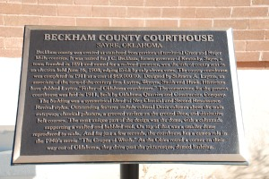 Beckham County Courthouse Plaque