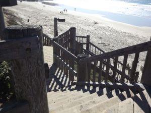 Steps down to beach