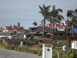 Portion of hotel from the Beach