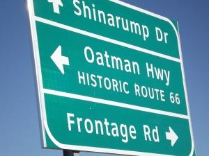 Oatman Hwy sign