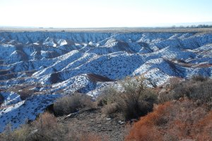 Painted Desert from the other side - Snow