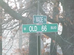 RT 66 Street Sign