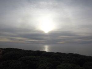 4 o'clock sun over Black Beach