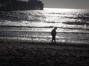 A late afternoon stroll on the Beach