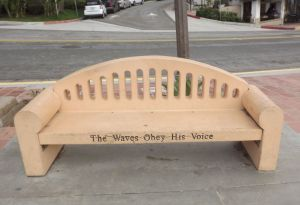 Park bench that says it all