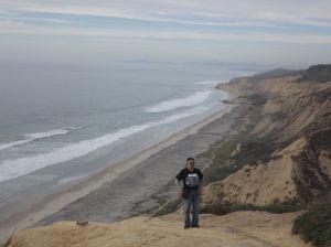 Black's Beach below