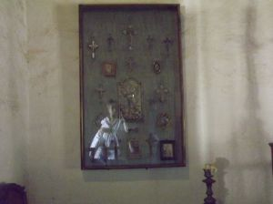 Ghosts in La Casa de Estudillo -- thought they were in the Whaley House.  Oh, that's my reflection in the picture.