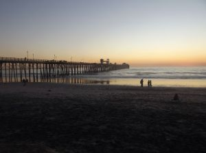 Sun is about to set on the Oceanside Pier