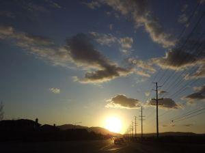 SUN SETTING OVER SAN DIEGO FEB 9 2013
