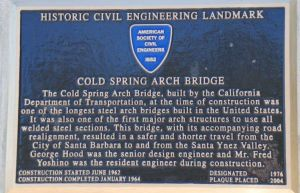 COLD SPRINGS ARCH BRIDGE SIGN