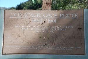 OLD STAGE COACH ROUTE ROAD SIGN