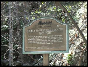OLD STAGE COACH ROUTE SIGN