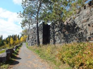 RETAINING WALL BUILT BY THE CCC