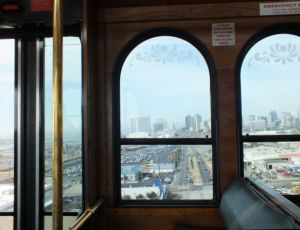 VIEW FROM TROLLEY