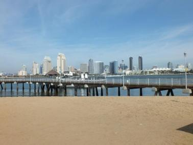 SD SKYLINE FROM CORONADO FERRY LANDING
