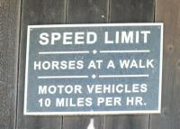COVERED BRIDGE SPEED LIMIT