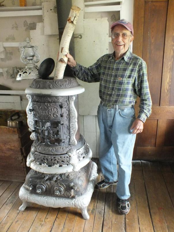 FRED FEEDING THE COAL STOVE