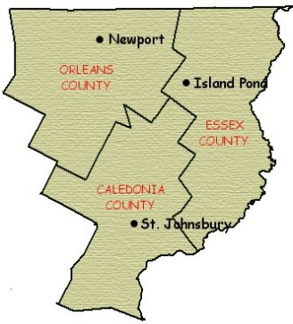 COUNTIES OF THE NEK