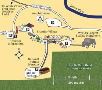 MAP OF JAMESTOWN BUFFALO